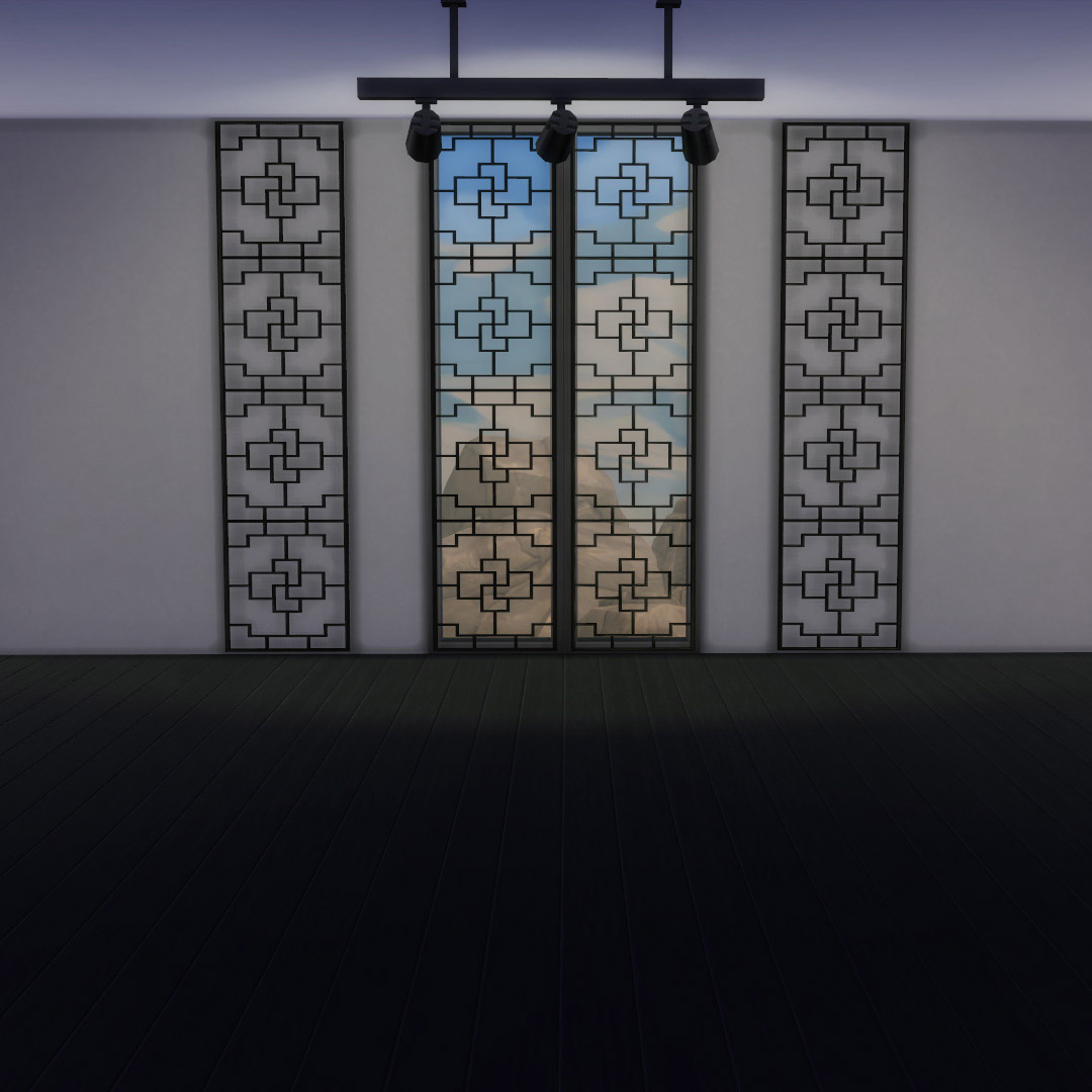 Broken Window Replacement >> My Sims 4 Blog: Asian Windows and Wall Screen by Siminimonster