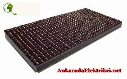 Beyaz Kırmızı Led Panel- Beyaz Kırmızı Led Tabela