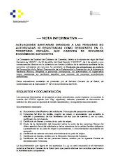 Requisitos para la asistencia sanitaria en Canarias a personas extranjeras en situación irregular