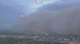 Foto Penampakan UFO Badai Debu Besar Arizona USA
