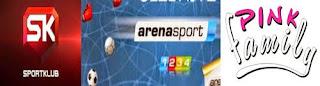 HRT Arena Sport Klub pink Serbian iptv