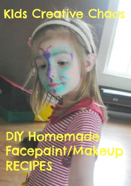 Homemade Face paint and makeup recipes for Toddlers and Preschool.