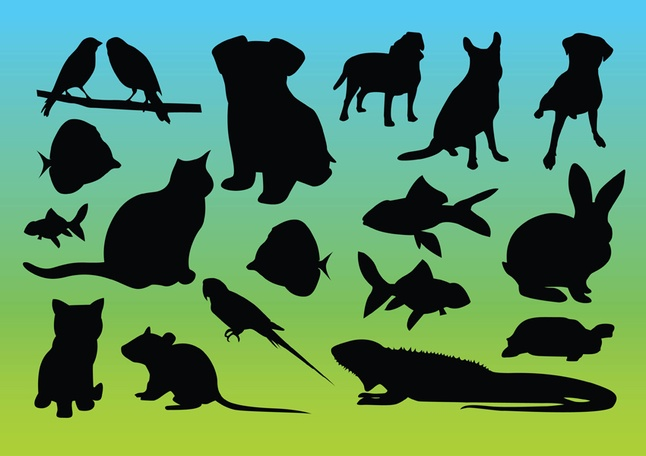 Free Animal Silhouettes Graphics Vectors