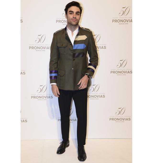 El empresario Diego Osorio con chaqueta militar