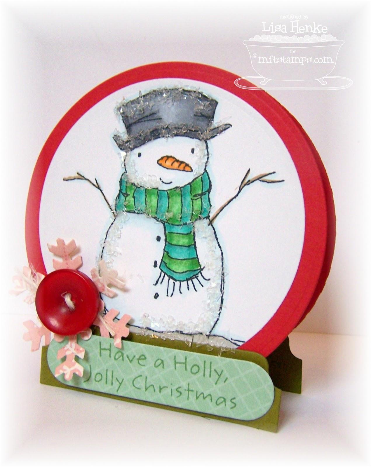 Snow Globe Template Off my snow globe card.