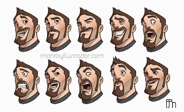 CHARACTER DESIGN (EXPRESSIONS) Self-portrait