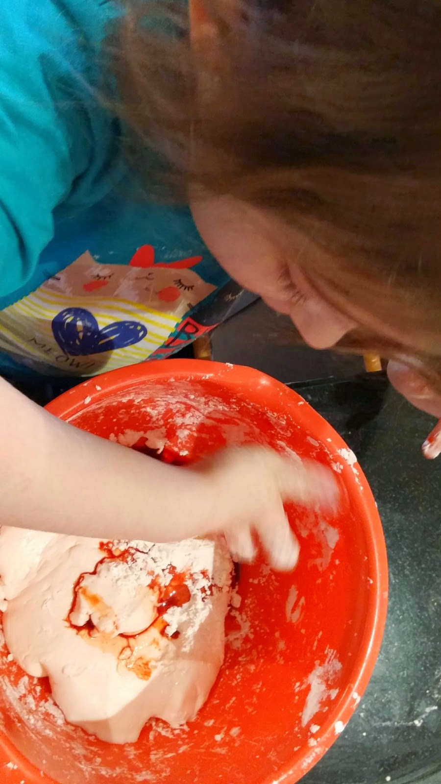 eldest with messy play