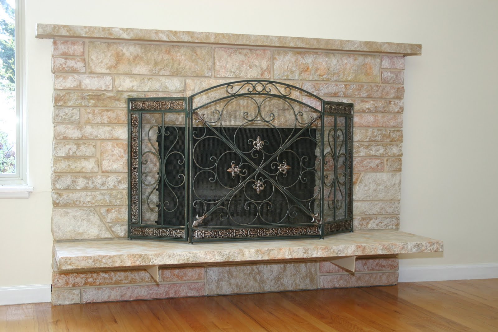 Food Wine And Home How To Update An Ugly Fireplace On A