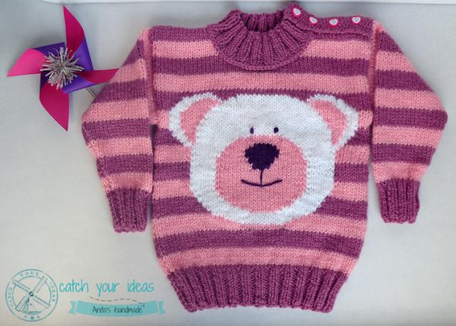sweter, sweterek, sweterek na drutach, sweterek handmade, sweter na drutach, sweterek dla dziecka na drutach, sweterek dziecięcy na drutach, sweter dziecięcy na drutach, sweter z misiem, sweterek z misiem, sweter w pasy, robótka na drutach, druty handmade, sweter ręcznie robiony, sweterek ręcznie robiony, knit sweater, knit sweater teddy bear, teddy bear knit, knitting bear, knit, sweater kids, sweater kids handmade