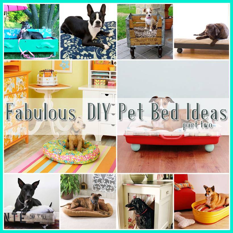 25 Fabulous DIY Pet Bed ideas! - The Cottage Market