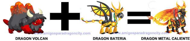 como conseguir el dragon metal caliente en dragon city combinacion 2