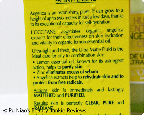 L'Occitane Angelica Ultra Matte Fluid