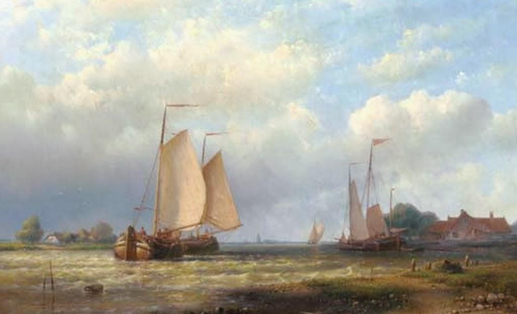 pinturas-de-paisajes-con-barcos-al-oleo
