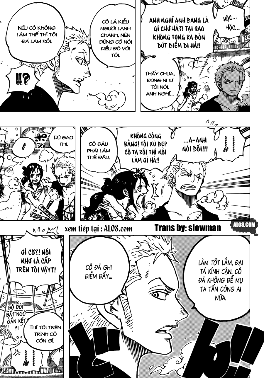 One Piece Chapter 687: Thú hoang 018