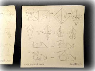 sticky note pad suck uk origami