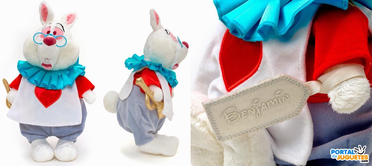 peluche conejo blanco de alicia en el pais de las maravillas