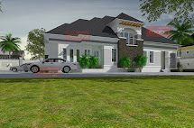 Residential 4 Bedrooms House Plans Bungalow