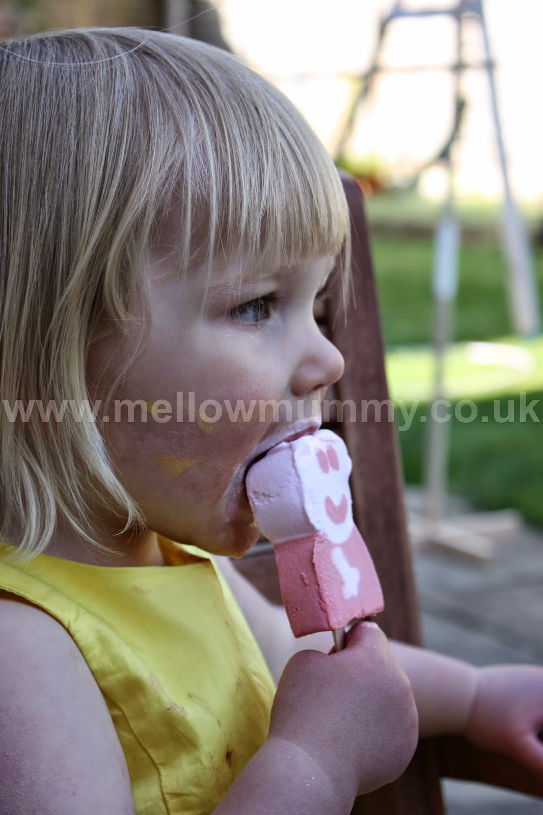 Eating Peppa Pig Ice Cream