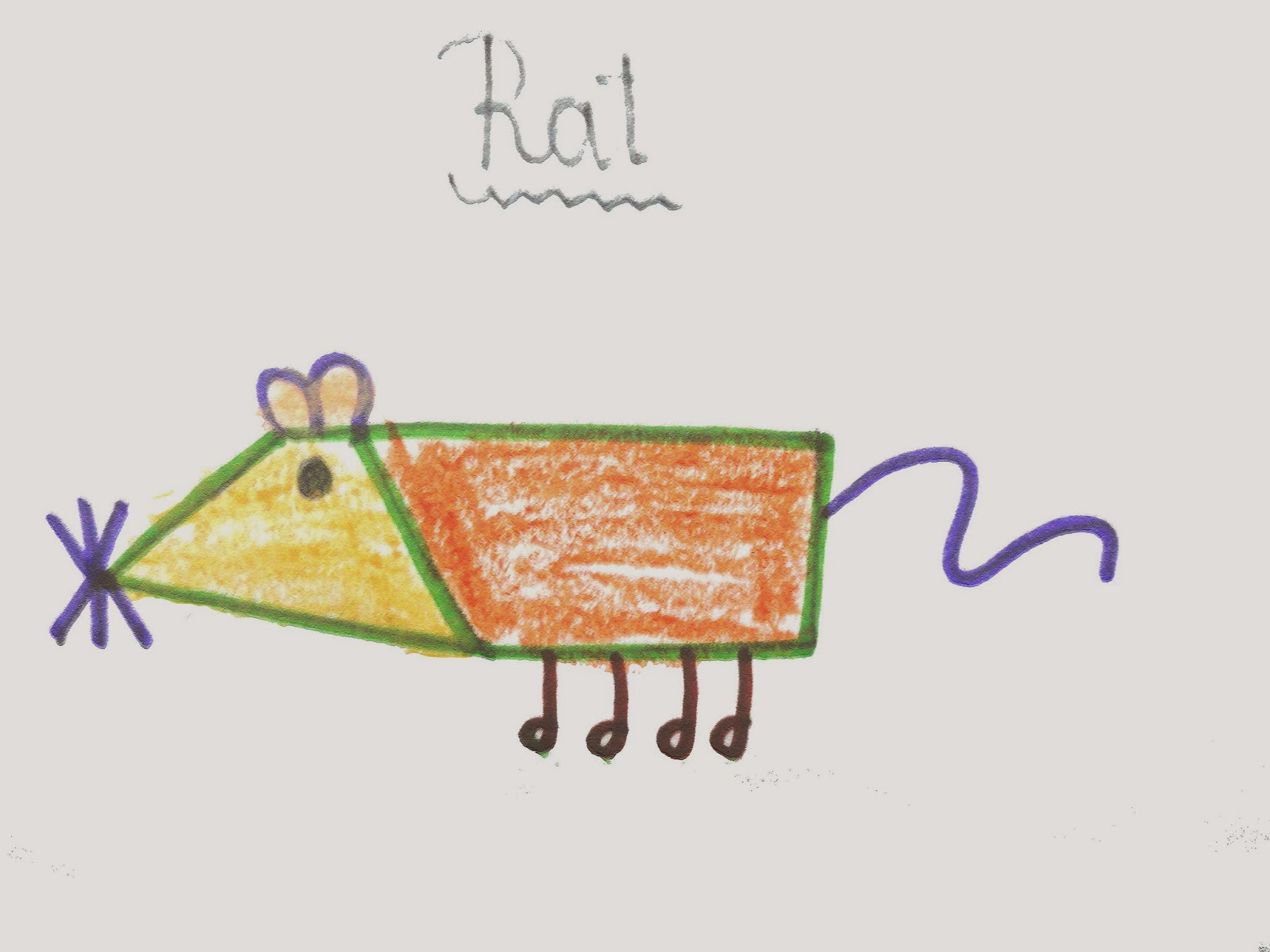 rat drawing for kids