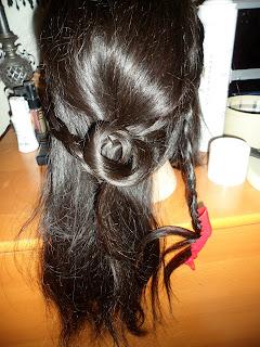 loop braid hairstyle updo