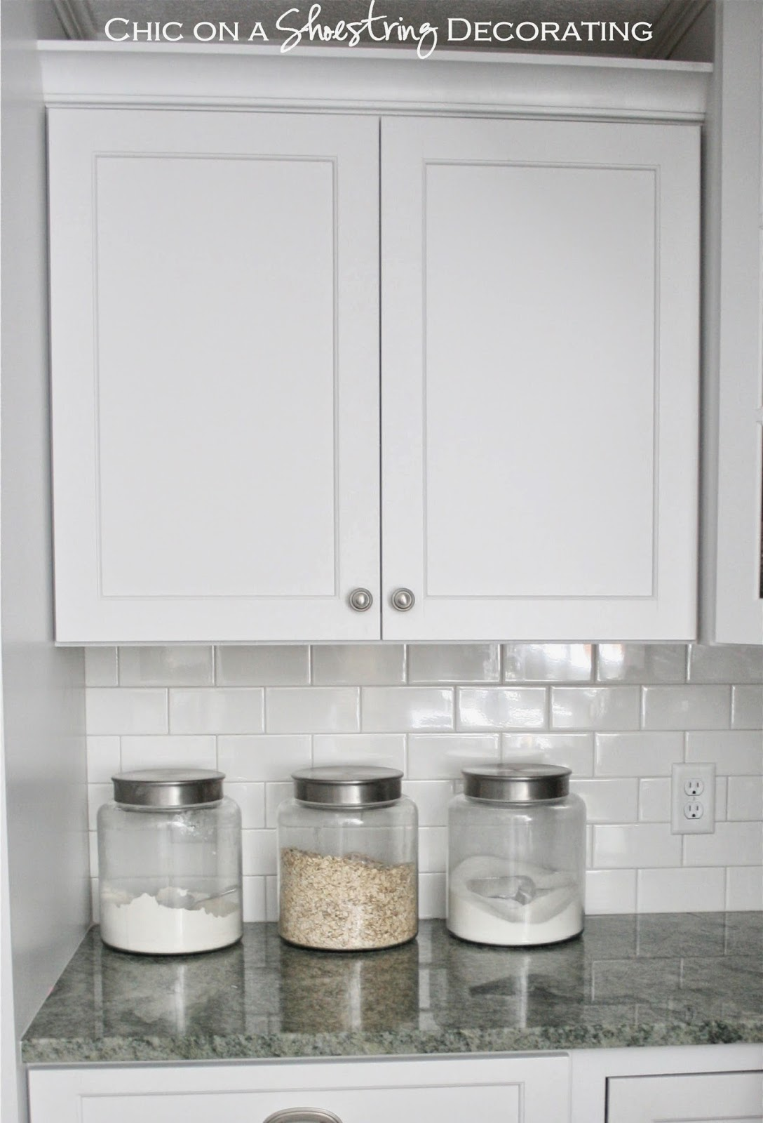 white kitchen remodel  subway tile