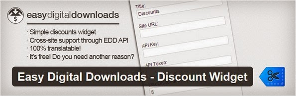 EDD discount widget plugin
