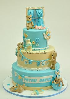 Tort botez cu ursuleti pentru David