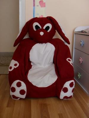 kızım için diktiğim sevimli tavşan koltuğumuz