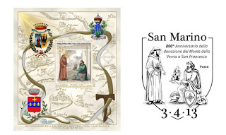 San Marino: 800th Anniversary of donation of the territory of La Verna to San Francesco