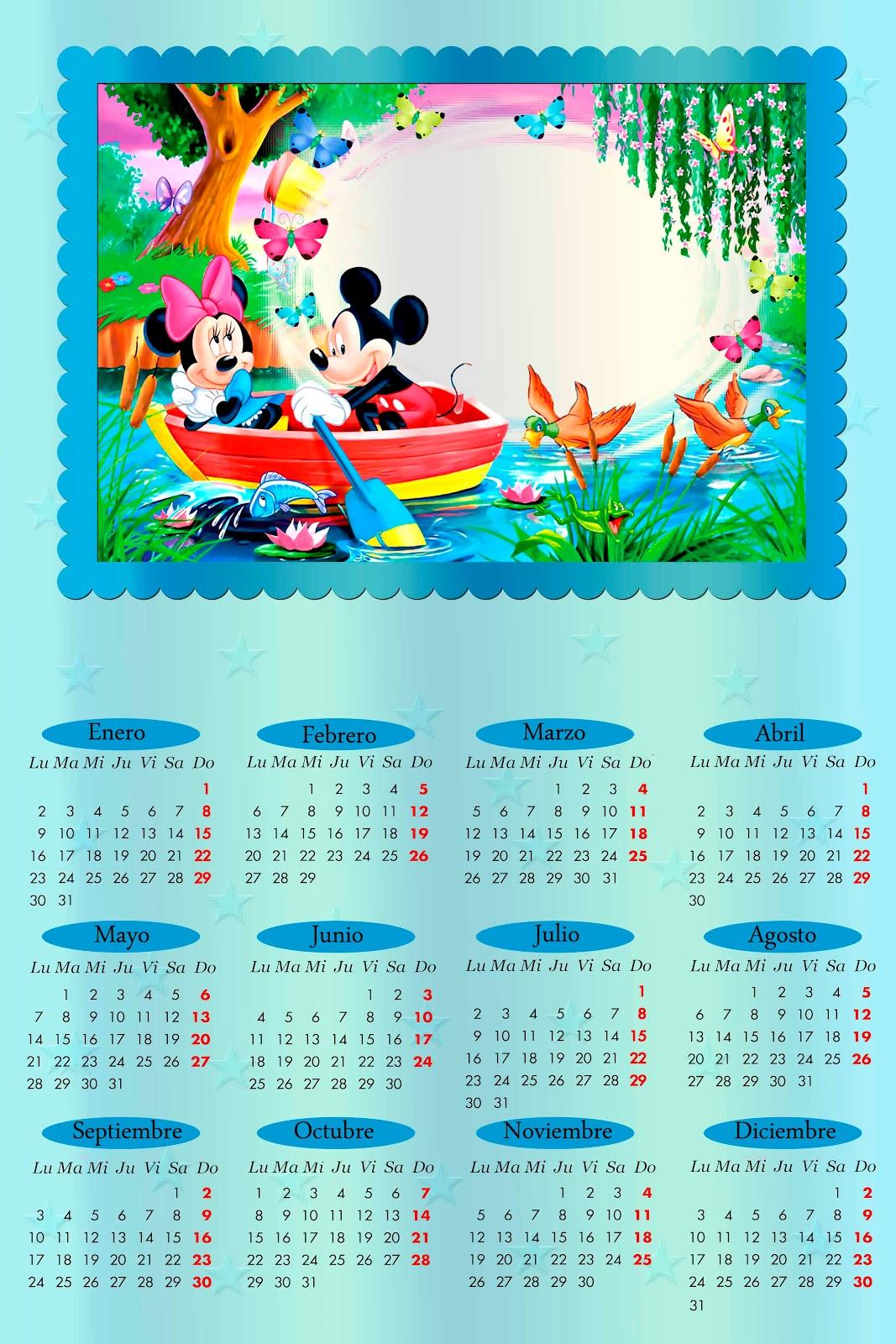 2012 Em PSD E PNG   Tem Calendario Do Mickey Minie Winnie The Pooh