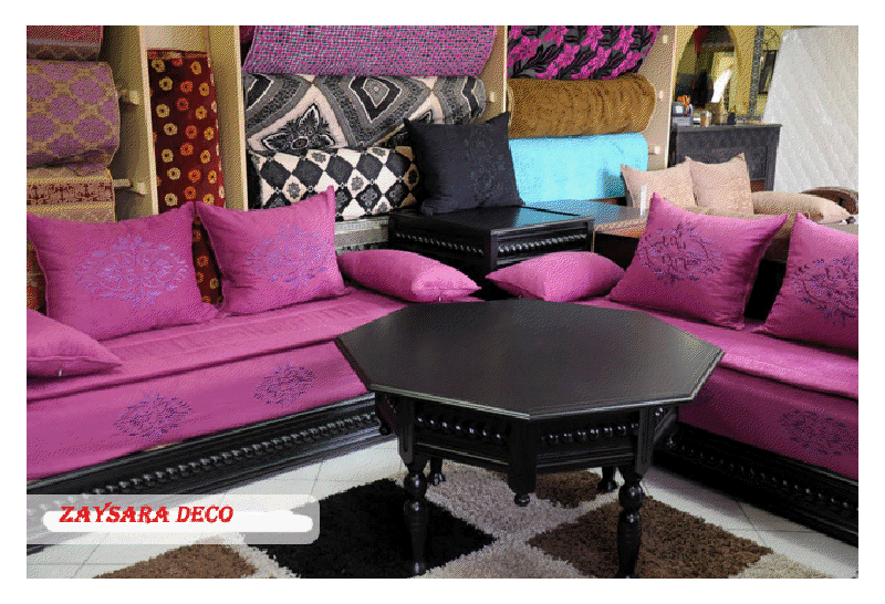 salon marocain salon marocain moderne. Black Bedroom Furniture Sets. Home Design Ideas