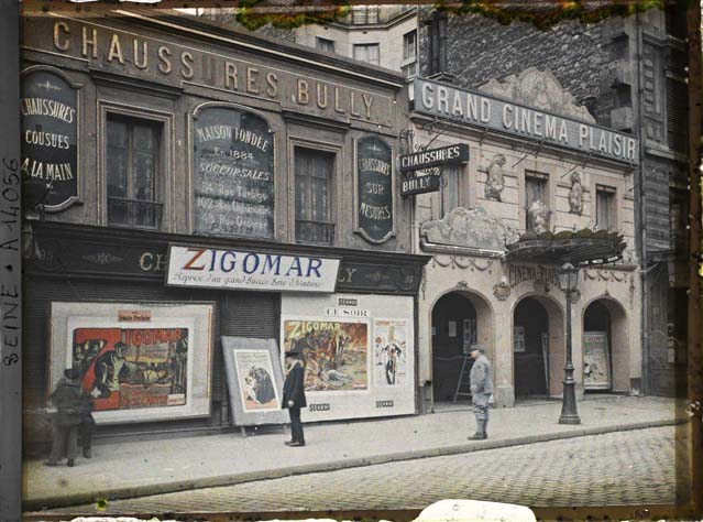 Le Grand Cinema Plaisir on 95 rue de la Roquette, 1919, Paris