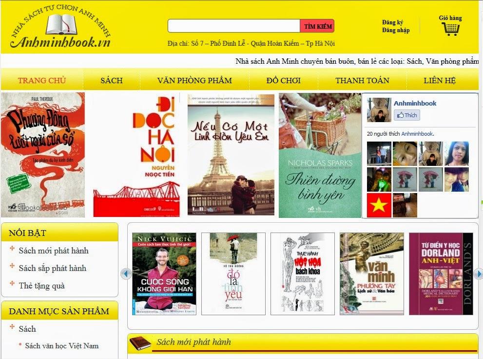 dịch vụ thiết kế web nhà sách