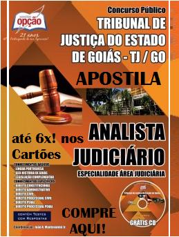 Apostila Concurso TJ de Goiás Analista Judiciário - Especialidade Área Judiciária