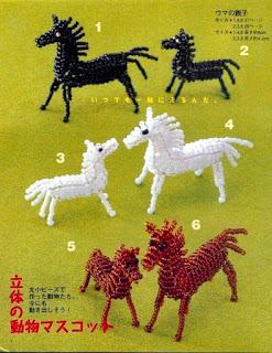 Лошадка объемная по японским схемам