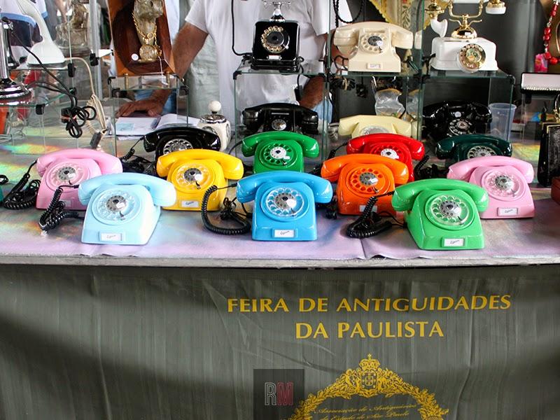color phones telefono retro vintage