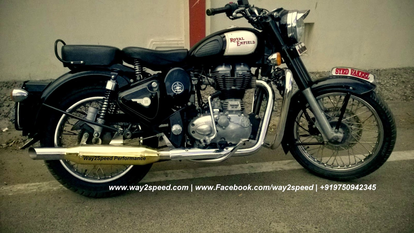 Way2speed Royal Enfield Rifle Exhaust | Royal Enfield Brass Accessories | Royal Enfield brass silencer | Royal Enfield silencer | Royal Enfield exhaust, Royal Enfield muffler |  way2speed performance