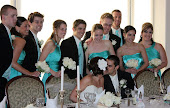 The wedding party.  My youngest son on the left.  My sweet niece and my middle son.