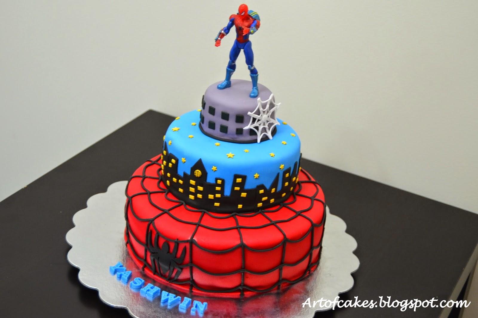 Art Of Cakes Spiderman Fondant Cake