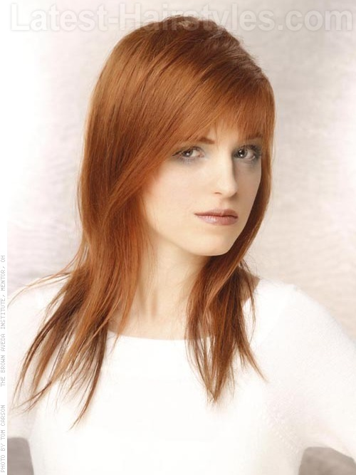 ... american 2014: Medium length hairstyles with bangs for oval faces
