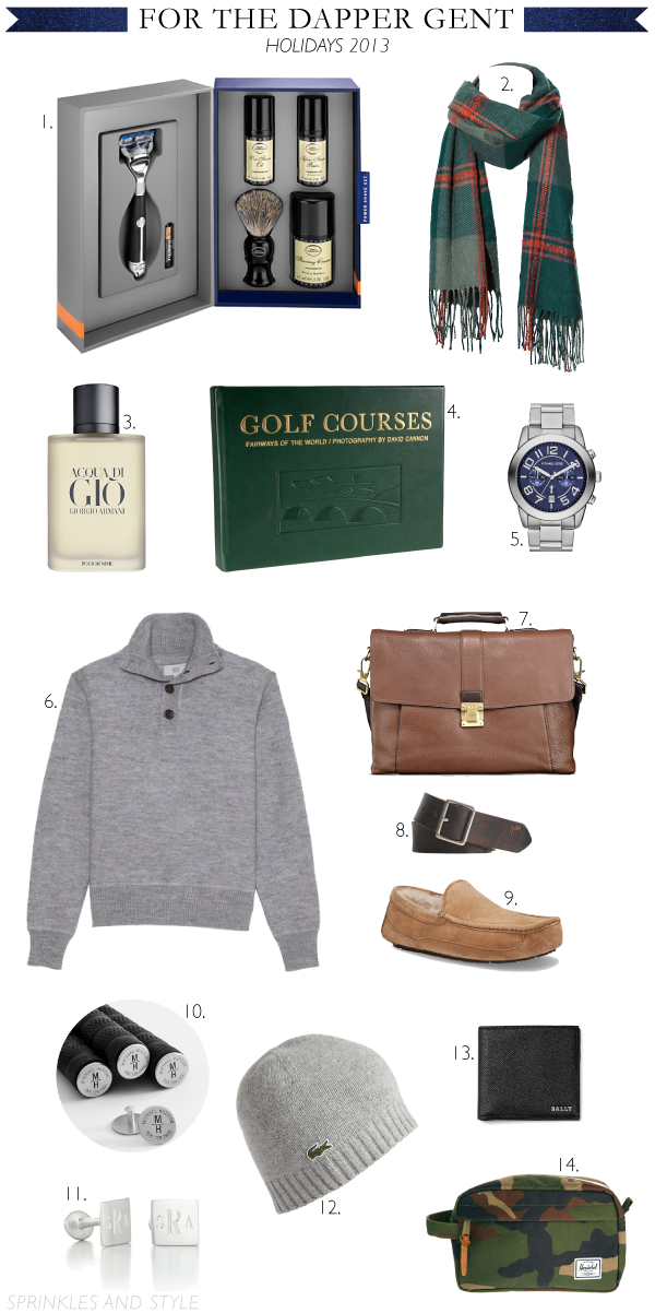 Sprinkles and Style || Holiday Gift Guide: For Him
