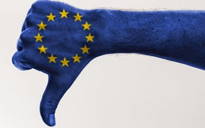 Blue thumb down with EU stars