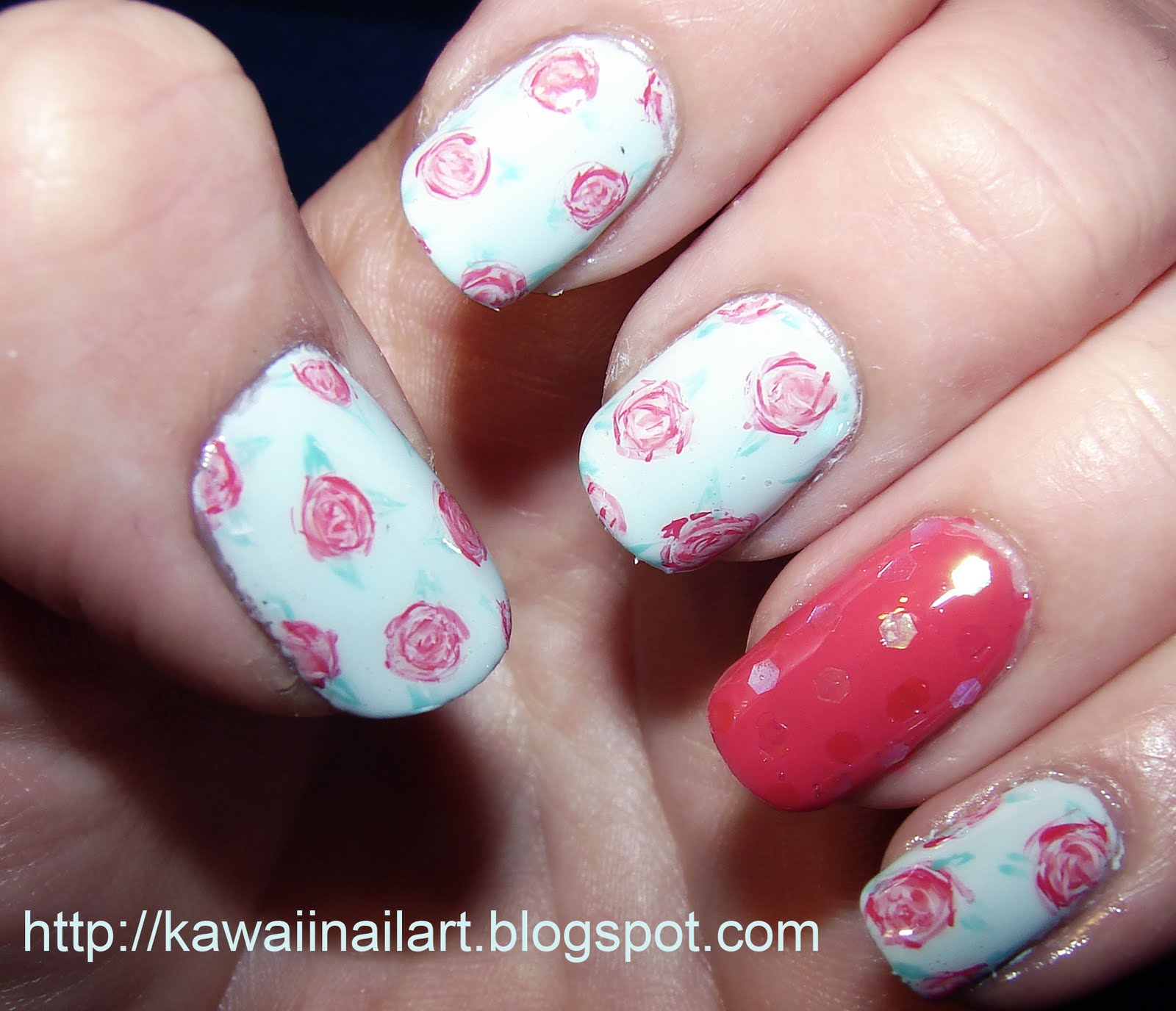 The Excellent Nail art blue designs for short nails Pics