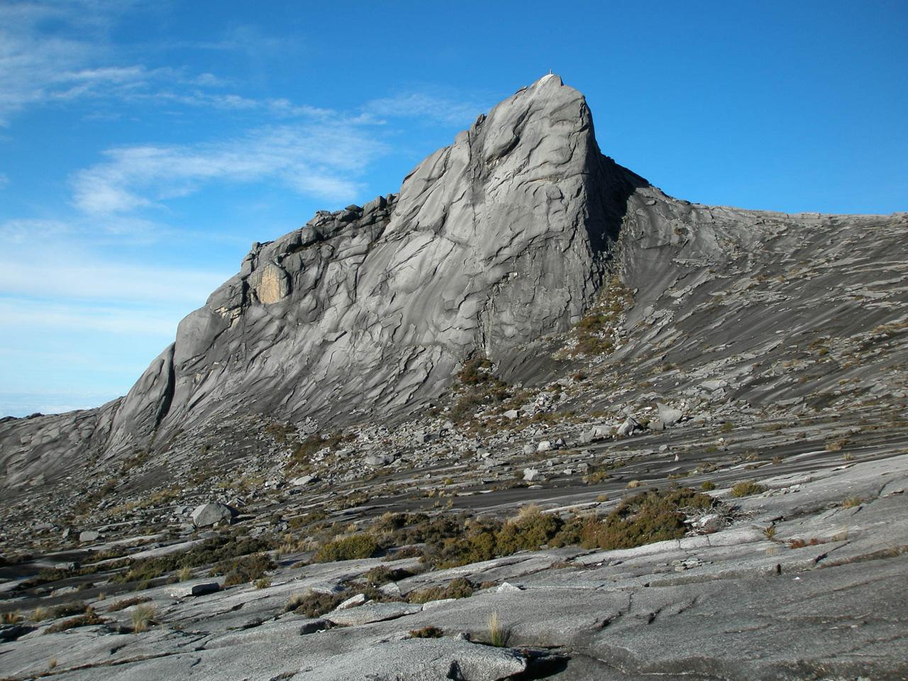 South Peak on Mount Kinabalu, tallest mountain in South