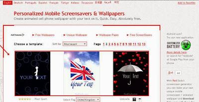 Screensaver Untuk Hp