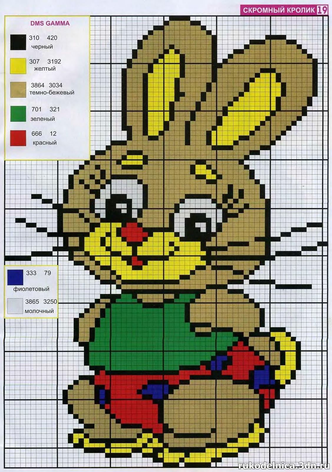 Схемы детских картинок для вышивания