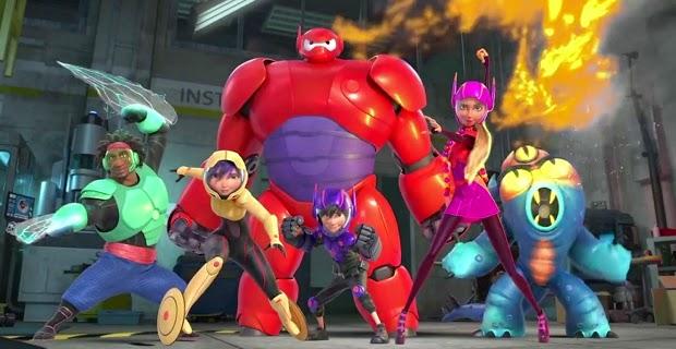 """Equipo  de """"Big Hero 6"""" (6 Héroes)"""