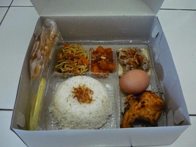 Contoh isi nasi kotak