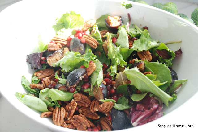 Fig, Pecan and Pomegranate Fall Salad
