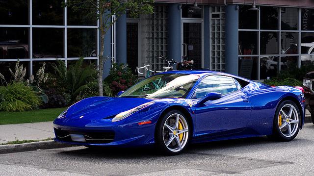 blue ferrari 458 wallpaper - Ferrari 458 Blue Wallpaper
